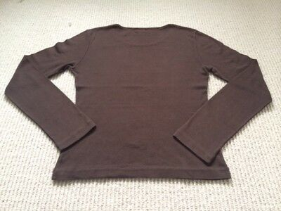 Women's Joseph cotton and cashmere brown long sleeve T-shirt, size 1, VGUC