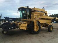 1995 New Holland TR97 Combine with 14' Swathmaster header