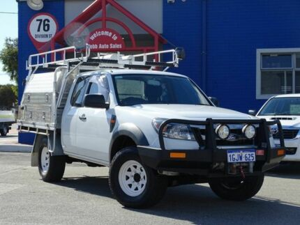 2011 Ford Ranger PK XL Super Cab White 5 Speed Manual Cab Chassis