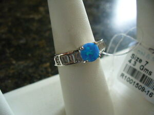 Sterling Fire Opal ladies ring, size 7