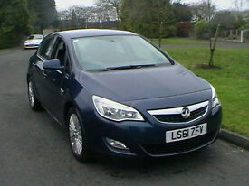 61 REG VAUXHALL ASTRA 1.7CDTi 16v EXCITE DIESEL 5 DOOR HATCHBACK IN MET BLUE