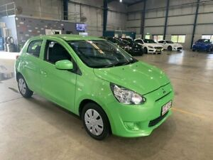 2015 Mitsubishi Mirage LA MY15 ES Green 1 Speed Constant Variable Hatchback Clontarf Redcliffe Area Preview
