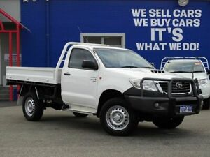 2014 Toyota Hilux KUN26R MY14 SR White 5 Speed Automatic Cab Chassis Welshpool Canning Area Preview
