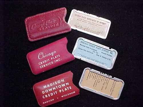LOT OF 3 VINTAGE CHARGE PLATES ~ CHICAGO ~ DETROIT ~ MADISON ~ ESTATE ITEMS