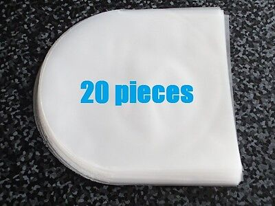20 pieces Semitransparency Plastic Sleeves for CD