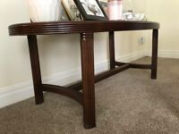 Coffee Table with Inset Beveled Glass Top