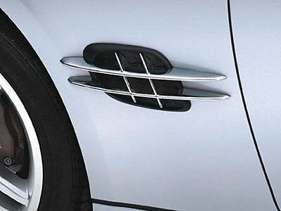 Mercedes W208 W209 CLK R170 R171 SLK Chrom Flügel Flossen Chrom Fender Rippen