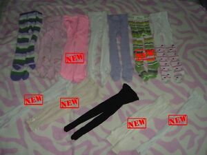 2T Girl's ---- Tights lot (12 pieces for $12)
