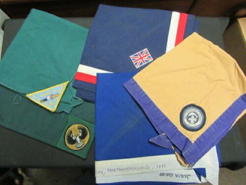Great Britain, Lot of 6 Scout Scarfs Neckerchiefs      FX