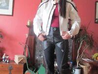 Ladies leather motorcycle jacket size 12