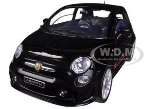FIAT 500 ABARTH BLACK 1/18 DIECAST MODEL CAR BY MOTORMAX 79168