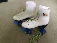 Brand New Roller Skates - Unused. Size 4 (37). Plus Knee Pads & Elbow Pads.