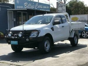 2013 Ford Ranger PX XL 3.2 (4x4) White 6 Speed Manual Super Cab Chassis Revesby Bankstown Area Preview