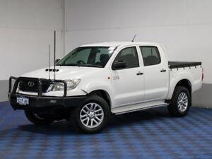2012 Toyota Hilux KUN26R MY12 SR (4x4) White 4 Speed Automatic