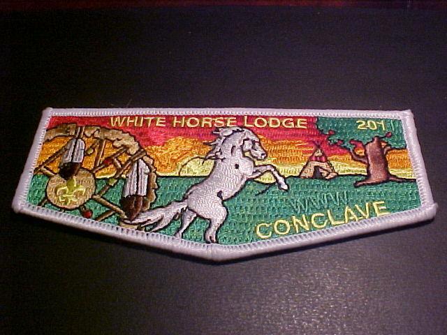 OA WHITE HORSE LODGE 201 S51 2011 SR-6 CONCLAVE FLAP MINT