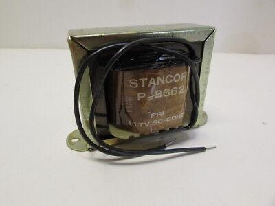 Stancor Control Transformer P-8662 Pri 117 Volts Sec 24 Volts C.t 2 Amps New