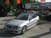2003 BMW 3 SERIES 3.0 330CI 228 BHP PETROL 2 DOOR CONVERTIBLE VERY CLEAN FOR
