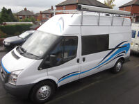 Ford Transit LWB Originally a Crew cab converted to a camper VGC Inside and out