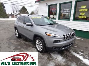 2015 Jeep Cherokee Limited 4x4 only $227 bi-weekly all in!