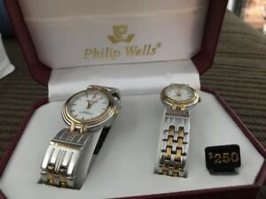 Watch gift set his and hers Philip Wells - New in Box