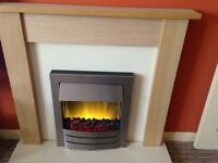 ADAMS ELECTRIC FIRE & FIRE SURROUND FOR SALE