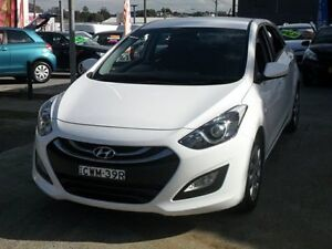 2015 Hyundai i30 GD MY14 Active White 6 Speed Automatic Hatchback Five Dock Canada Bay Area Preview