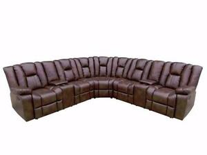 3 AIR LEATHER SECTIONAL W/ 4 RECLINERS $ 1698