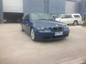 2002 BMW 316TI E46 Blue 5 Speed Auto Steptronic Hatchback Newport Hobsons Bay Area Preview