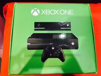 XBOX ONE WITH KINECT (500GB) WITH 12 MONTH WARRANTY THAT COVERS KINECT, XBOX ONE + ALL CABLES.