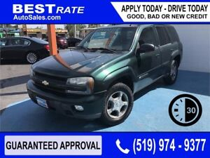 CHEVY TRAILBLAZER - APPROVED IN 30 MINUTES! - ANY CREDIT LOANS