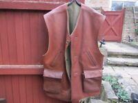 Leather jerkin/shooting vest, large.