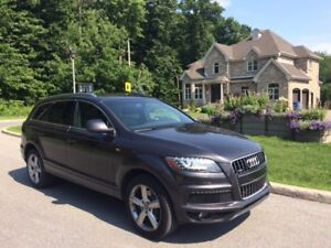 Audi Q7 2015 SLine tout équipé! Fully equipped! Like new!