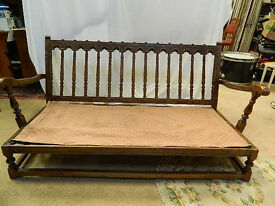 vintage 'Ercol Colonial' two-seater sofa