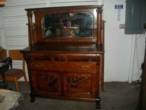 Early American Tiger Oak sideboard