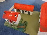 Child's wooden toy farm
