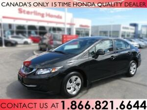 2013 Honda Civic Sdn LX | 1 OWNER