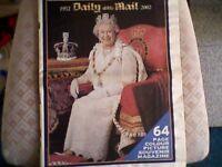 GOLDEN JUBILEE SOUVENIR NEWSPAPER (DAILY MAIL) GENUINE 2002 - ELIZABETH 2nd