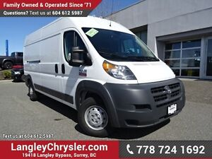 2016 RAM ProMaster 2500 High Roof ACCIDENT FREE w/ HIGH ROOF,...