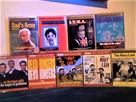 ALL BBC DOUBLE AUDIO BOOKS NAVY LARK, DEAD RINGERS, GOONS, GRENFELL, DADS ARMY & MORE CASSETTE TAPES