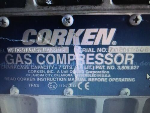 Corken Model D691 Gas Compressor