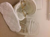 BRAND NEW & UNUSED- Mamas & Papas Moses Basket & Rocking stand - BARGAIN