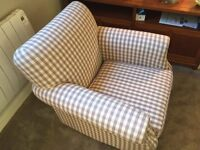 Brand new DFS Ellie Accent Chair in plum check