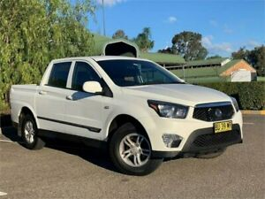 2013 Ssangyong Actyon Sports Q150 MY12 Tradie White 6 Speed Sports Automatic Utility Mount Druitt Blacktown Area Preview