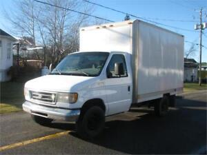 FORD E-350 2003 CUBE 12 PIEDS SIMPLE ROUES FINANCEMENT FACILE