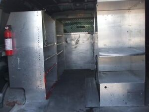 Cargo Van partition wall & stainless steel shelving unit $500obo