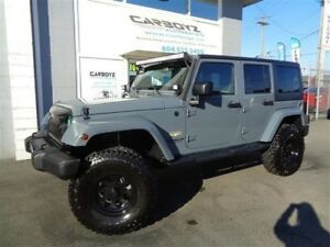 2015 Jeep Wrangler Unlimited Sahara 4x4, LIFTED, 35 Inch Tires