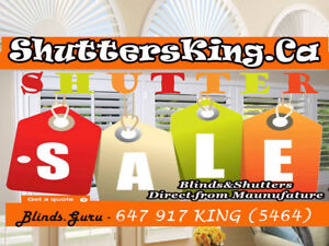 Blinds&Shutters sale direct from Manufacture