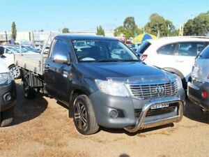 2015 Toyota Hilux TGN16R MY14 Workmate 4x2 Grey 5 Speed Manual Cab Chassis Mount Druitt Blacktown Area Preview
