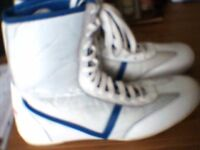 Boxing Training Boots High Lenght /Martial Arts .. In White