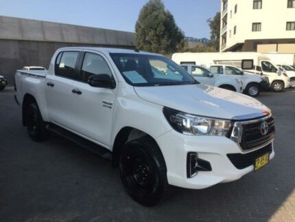 2018 Toyota Hilux GUN126R MY17 SR (4x4) White 6 Speed Manual Dual Cab Utility North Strathfield Canada Bay Area Preview